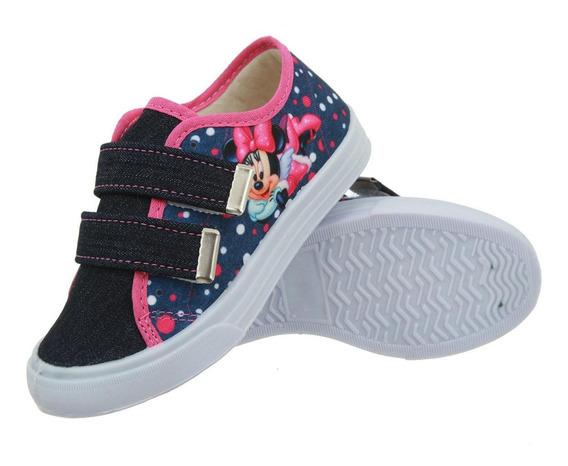 Tênis Infantil Feminino Minnie Em Velcro Preço Baixo
