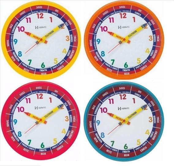 Relógio De Parede Educativo Didático Infantil 6690- Barato