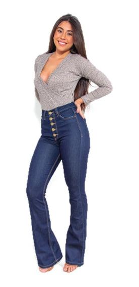 Calça Jeans Flare Com Cinta Chapa Barriga Lipo Revanche