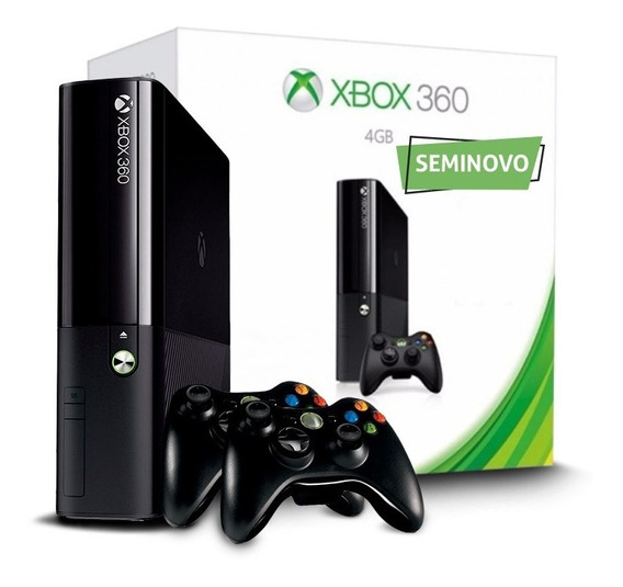Xbox 360 Slim + 2 Controles + Jogo