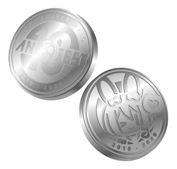 Moneda Conmemorativa Anifest 10 Años Edición Limitada