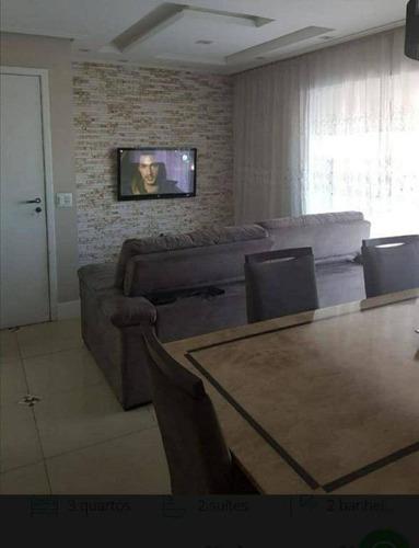 Imagem 1 de 20 de Apartamento Com 3 Dormitórios, 86 M², Condomínio Supera, Por R$ 700.000 - Vila Augusta - Guarulhos/sp - Ap1961