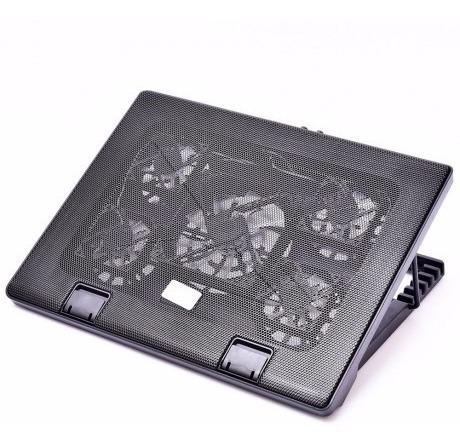 Base Notebook 5 Coolers + 5 Regulagens ( Led Azul )