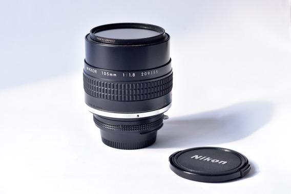 Lente Nikon Nikkor 105mm F1.8 No.209155 Mount - Nikonf