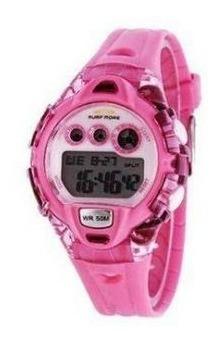 Relógio Digital Feminino Kids Surf More Rosa 6552491f