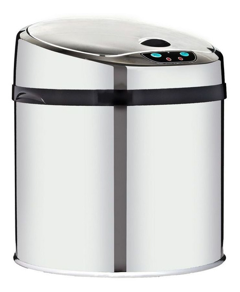 Lixeira 6 Litros Automática Inox Com Sensor