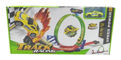 Pista De Autos Doble Giro Track Racing Speed Power 360