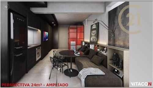 Imagem 1 de 26 de Apartamento Com 1 Dormitório Studio À Venda, 24 M² Por R$ 379.860 - Perdizes - São Paulo/sp - Ap24144