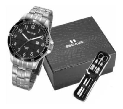 Relógio Seculus Masculino Pulseira Aço Com Garantia + Brinde