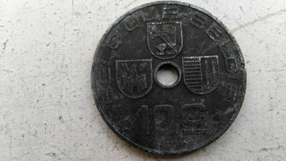 Moneda Belgica 1942 Ocupacion Alemana. 10 Centimes 2 Guerra