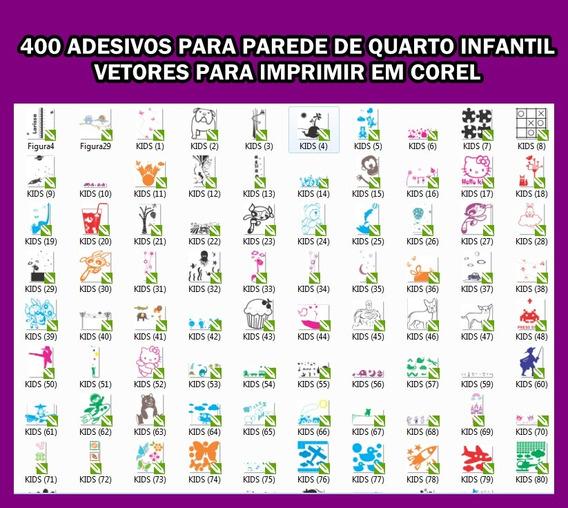 400 Adesivos Para Parede E Porta De Quarto Infantil