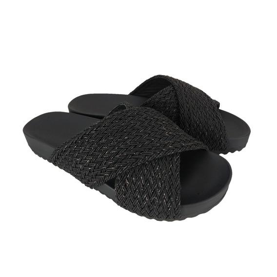 Chinelo Tiras Sapatoweb Tranças Preto - W37551pto