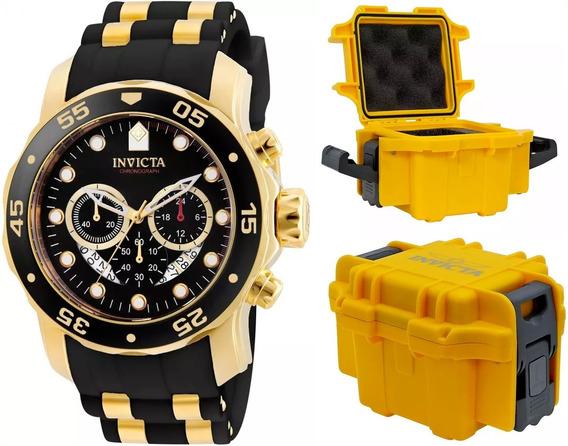 Relógio Invicta Pro Diver 21928 Banhado Ouro 18k Maleta