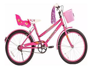 Bicicleta Rodado 20 Paseo Playera Nena Halley 19075