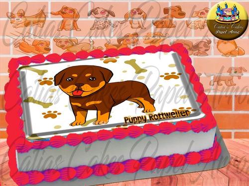Papel De Arroz Comestível P/ Bolo Filhotes Pets Cães Cão A4