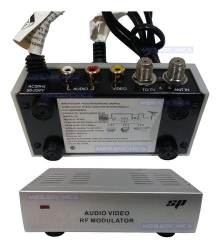 Modulador Convertidor Rca A Rf Salida Tv Canal 3/4 A 220v Sp