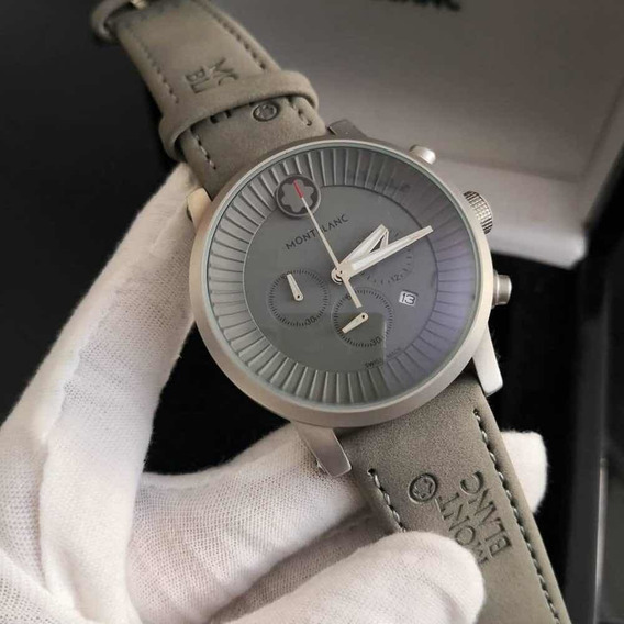 Relógio De Luxo ( Pulseira De Couro )