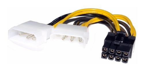 Cable Adaptador 2 Molex A Pci E 8 Pines Placas De Video