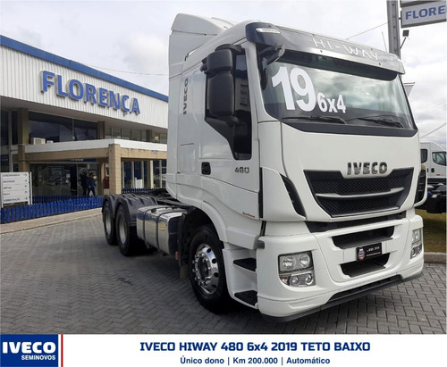 Imagem 1 de 12 de Iveco Hi Way 480 6x4 2019 Teto Baixo Hiway