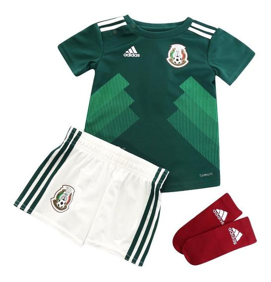 Conjunto adidas Selección Mexicana Niño 3piezas Original
