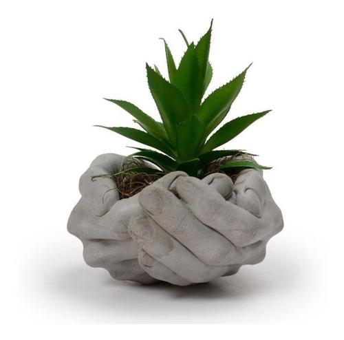 Vaso Decorativo Cimento Suculenta Planta Flor Sala Cachepot