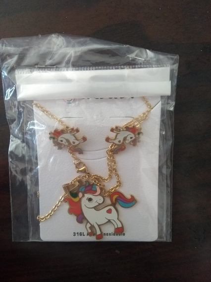 Cadenas Unicornio De Acero Inoxidable Para Niñas