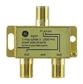 Ge 34136 Splitter Divisor Coaxial 2 Salidas Apto Señal Digit