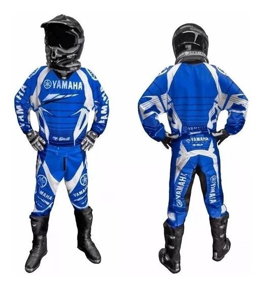 Conjunto Pantalon Y Buzo Motocross Yamaha Nacional Talle L