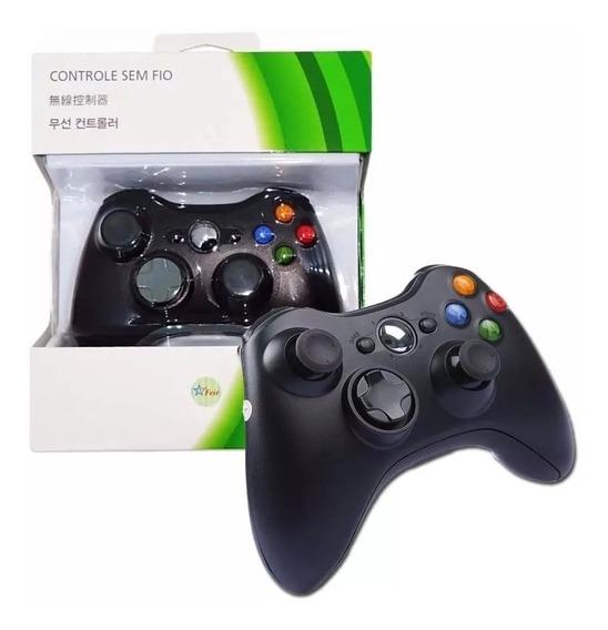 Joystick Controle Wireless Sem Fio P/ Xbox 360 Feir Original