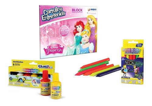 Kit De Arte Para Jugar Princesas Disney Muresco