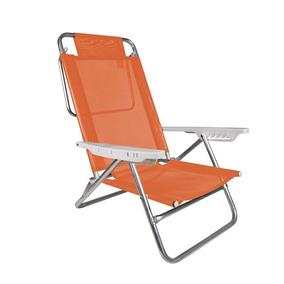 Cadeira Reclinável 5 Posições Laranja Summer Praia - Mor