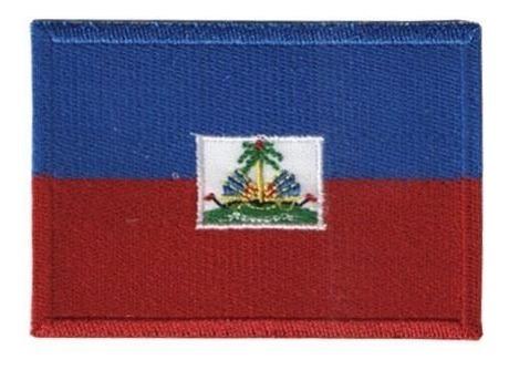 Bordado Termocolante Bandeira Haiti