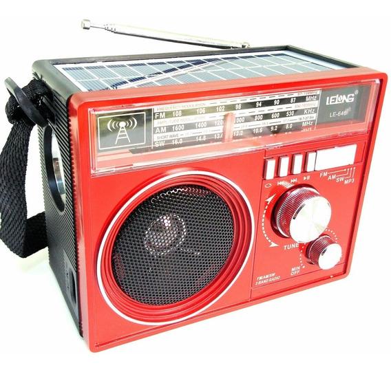 Caixa De Som Bluetooth Mp3 Rádio Retrô Solar Entrada Usb S