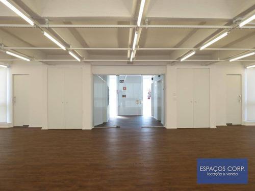 Laje Comercial Para Alugar, 230m² - Jardim Paulistano - São Paulo/sp - Lj0581