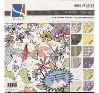 Gcd - Bloco Para Scrapbook - Bright Skies