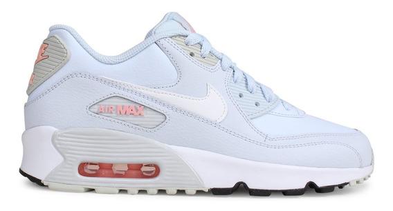 Tenis Nike Air Max 90 Ltr (gs) Azul Talla #25 Mujer Psd