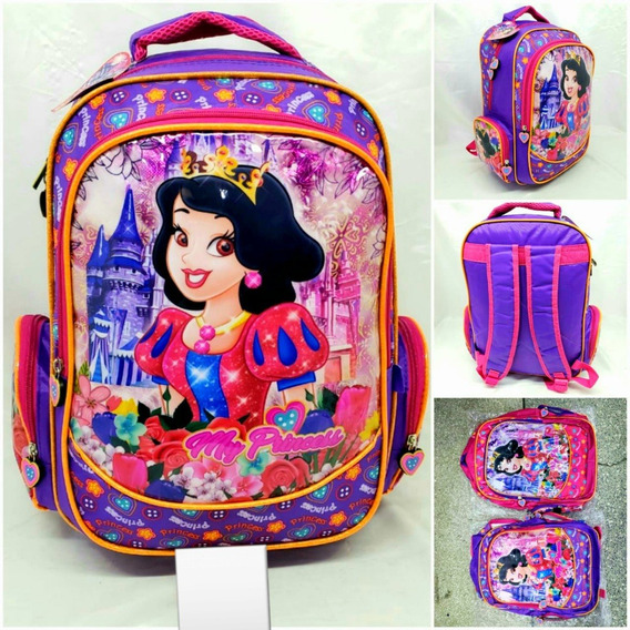 Mochila Escolar Infantil Reforçada Grande My Princess M3542