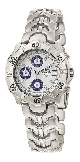 Relógio Bulova 96b11 Titâno, Tom Prata Fosco, Cronógrafo.