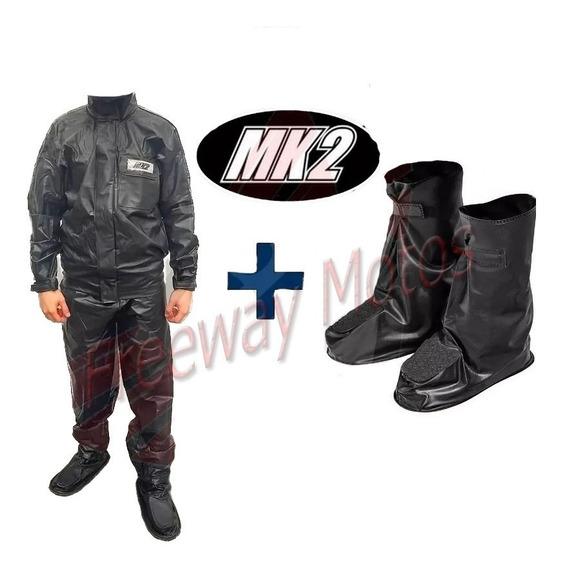 Traje De Lluvia Piloto Mk2 Moto + Galochas Freeway Motos