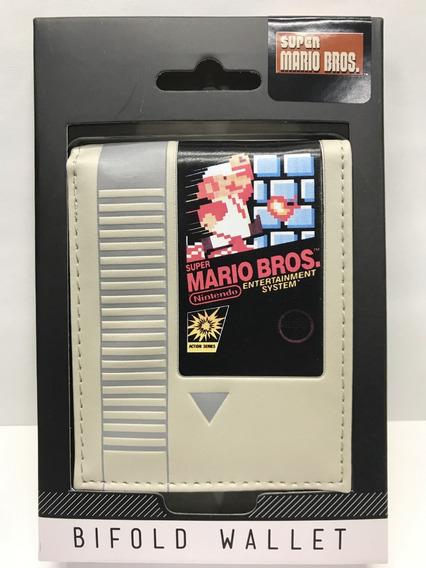 Cartera Bioworld Cartucho Nes Mario Bros Billetera Original