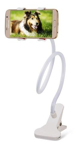 Imagen 1 de 7 de Soporte Holder Flexible De 60cm / Clip Para Celulares, Blanc