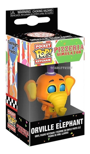 Funko Pop Llavero Five Nigths At Freddys Orville Elephant Or