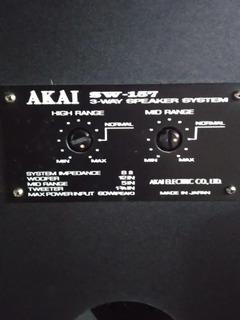 Parlantes Vintage Akai 157 No Pioneer, No Technic , No Sony