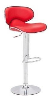 Banco Para Bar Modelo Fly - Rojo Këssa Muebles