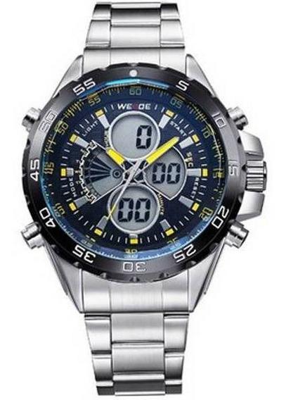 Relógio Masculino Esportivo Weide Azul Anadigi Wh-1103 - Garantia E Nota Fiscal