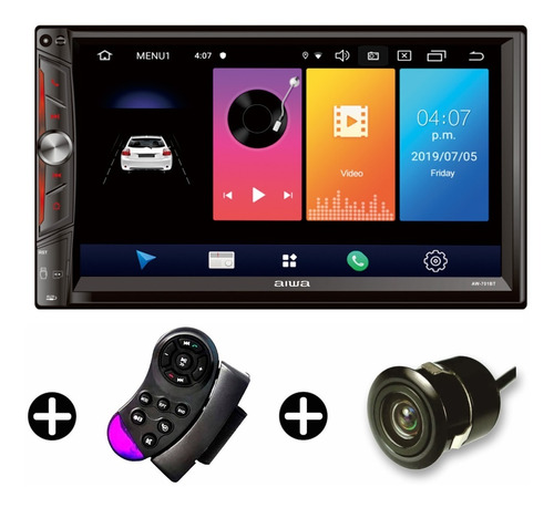 Imagen 1 de 7 de Radio Carro Aiwa Android 9.0 Pant 7 Wifi Mirrorlink Mod 2020