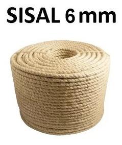 Corda Sisal Natural 6mm Artesanato Uso Geral 25 Metros