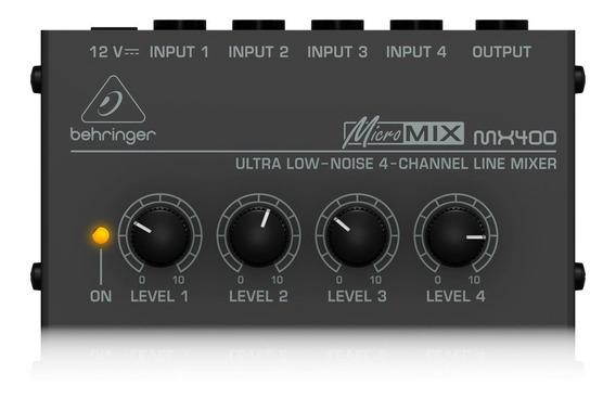Mixer Behringer Mx400 4 Canais 12v