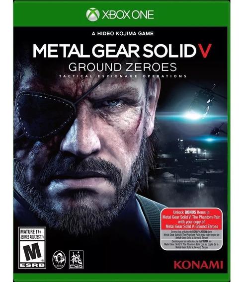 Metal Gear Solid V Ground Zeroes Xbox One Lacrado Original