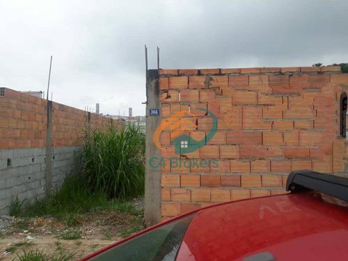 Terreno À Venda, 175 M² Por R$ 170.000,00 - Residencial E Comercial Guarulhos - Guarulhos/sp - Te0035